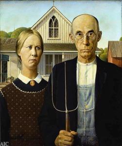 American Gothic (Gotico Americano) – dipinto del 1930 di Grant Wood