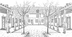 Heinrich Tessenow, Wohnhof-Bebauung a Hohensalza (1911)
