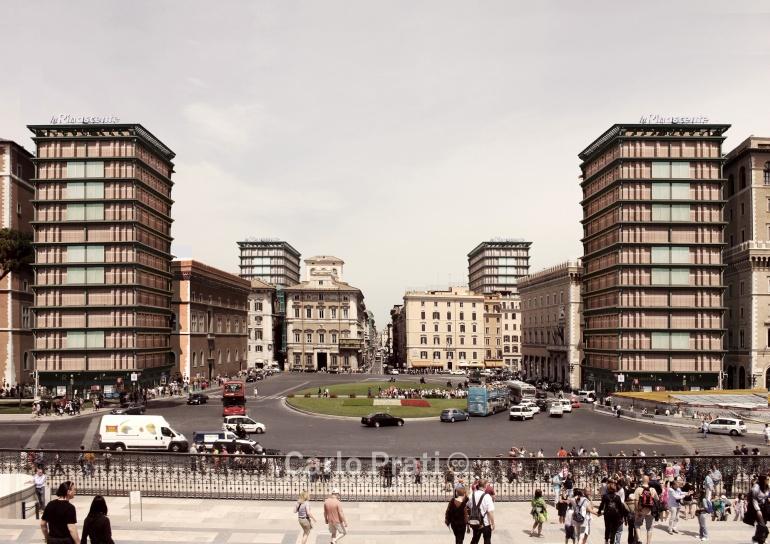 Carlo Prati. La Fenice. (Collage digitale) 2014. Stampa su carta fotografica 40 x 60 cm.