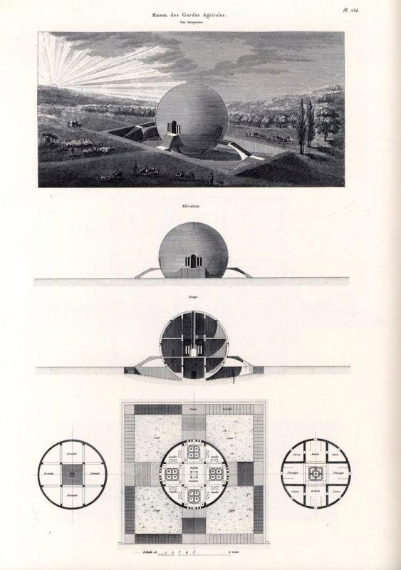 Claude Nicolas Ledoux. Projet de maison de gardes agricoles. 1770