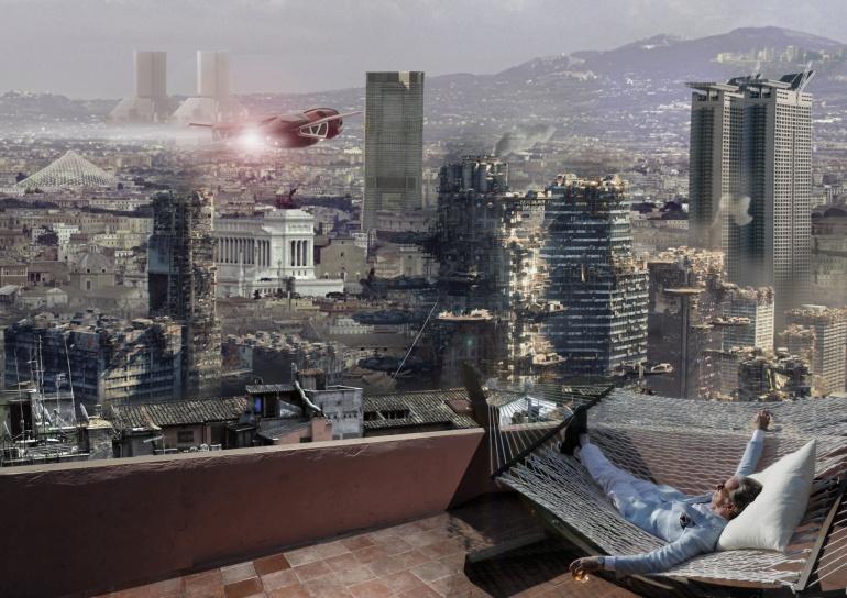 Carlo Prati. The Big Beauty, 2013, Collage digitale, 60x40 cm.
